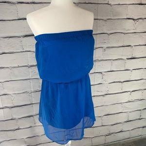 {Express} dropped waist stress mini dress